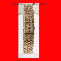 Mint 9K Gold Swiss Omega 17J Ladies Retro Bracelet Wrist Watch 1968 - $843.01