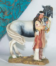 Sisters in Spirit Collection INDIAN Maiden with her Horse - FAITHFUL FRI... - $19.75