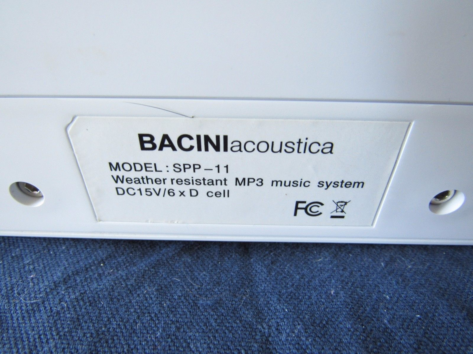 Bacini Acoustica Music System Weather Resistant MP3 SPP-11 Outdoor Speaker #2