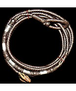Vintage Sterling Silver Braided Leather Riata Rope Reata 8 Plait Lariat ... - $319.00