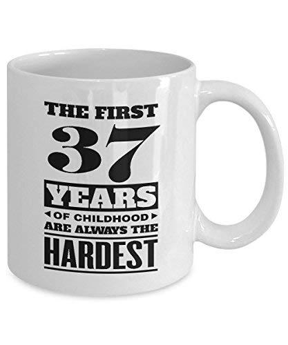 Primary image for BirthdayMugs - The First 37Years of Childood Coffee Mugs - Safety 37th Birthday