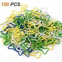 Coolrunner 100pcs Bone Shape Multicolor Metal Paper Clips Bone-Shaped 10... - £8.29 GBP