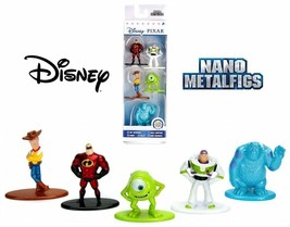 Disney Pixar Nano Metalfigs Mini Diecast Metal Figure Toy Set 5 Pack (Pack B) - $12.34