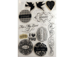 For My Love Clear Stamp Set with Icons