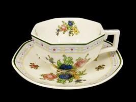 Royal Doulton Porcelain Cup & Saucer Set, Floral Pattern #D4441, Vintage... - $14.65