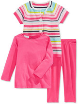 First Impressions Girls' 3-Piece Stripe Sweater,Top&Leggings Set,Size 6-9 M, $52 - $19.79