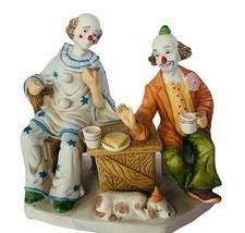 Circus clown figurine carnival sculpture creepy Royal Crown 1985 Arnart ... - $84.15