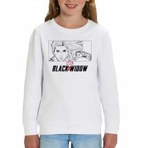 Marvel Studios Black Widow Outline Character Art Children's Unisex White... - $24.08