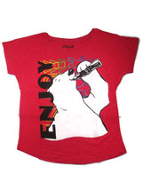 Coca-Cola  Juniors Asymetrical Midriff Hem Tee T-shirt Polar Bear Medium - $13.85