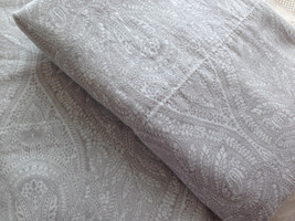 Raymond Waites Gray Paisley 100% Cotton Sateen Standard Pillowcases (2) ... - $16.63