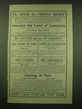 1902 John Lane the Bodley Head Ad - The Book for Prince Henry - $14.99