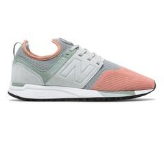 New Balance 247 Wolf Grey/Pink Running Lifestyle Shoes MRL247PK Mens Size 12 - $74.95