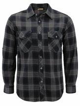 Men's Premium Cotton Button Up Long Sleeve Plaid Comfortable Flannel Shirt image 10