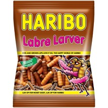 HARIBO Labra Larva LICORICE candies from Denmark-325g-FREE SHIPPING - $14.36