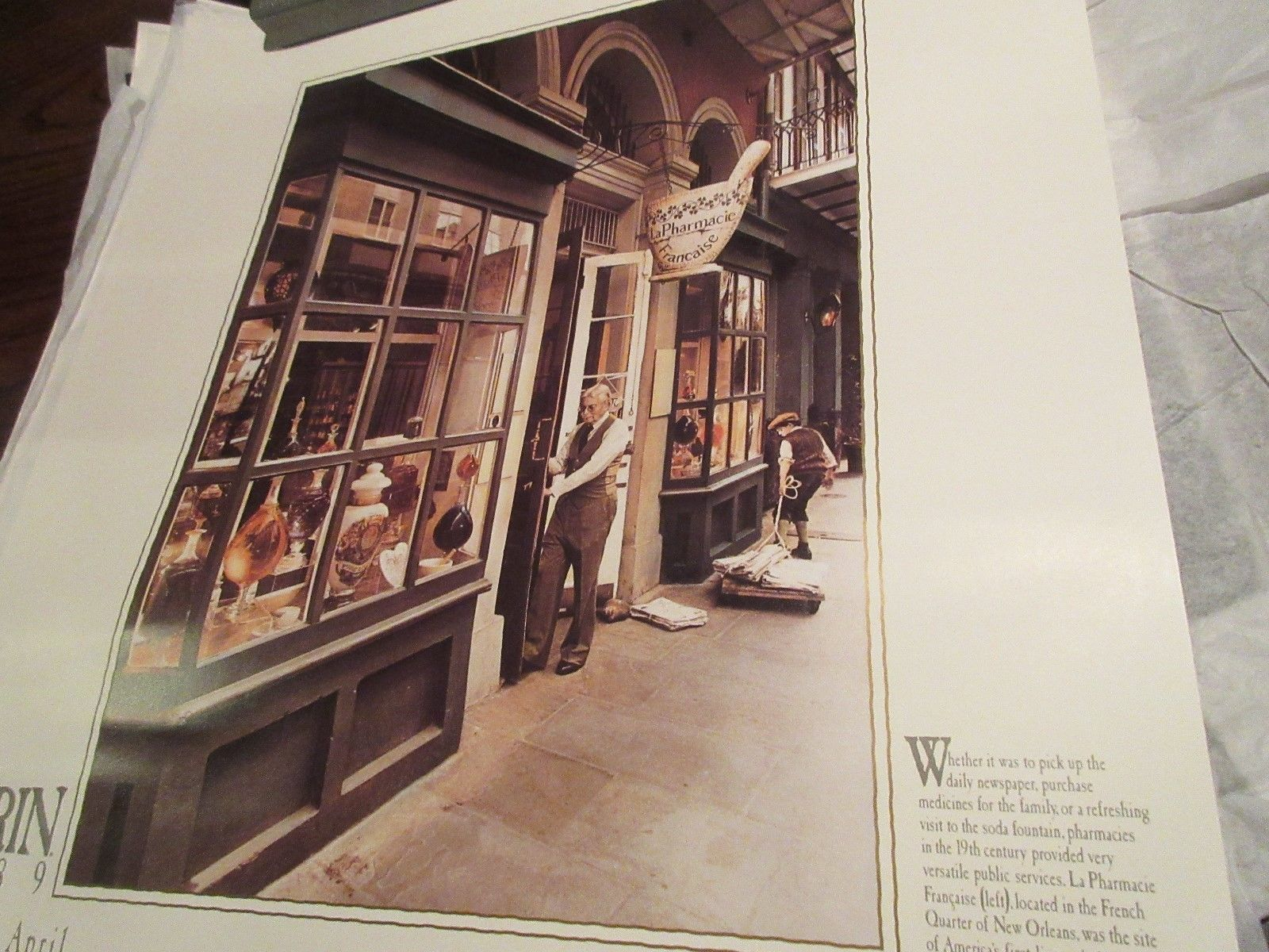 """Rx ,Pharmacy , POSTER ,18"""" X 24"""" ,Photographs Depicting History & Heritage ,1989 image 4"""