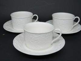 Mikasa English Countryside Cups & Saucers Set of 3 - $14.50