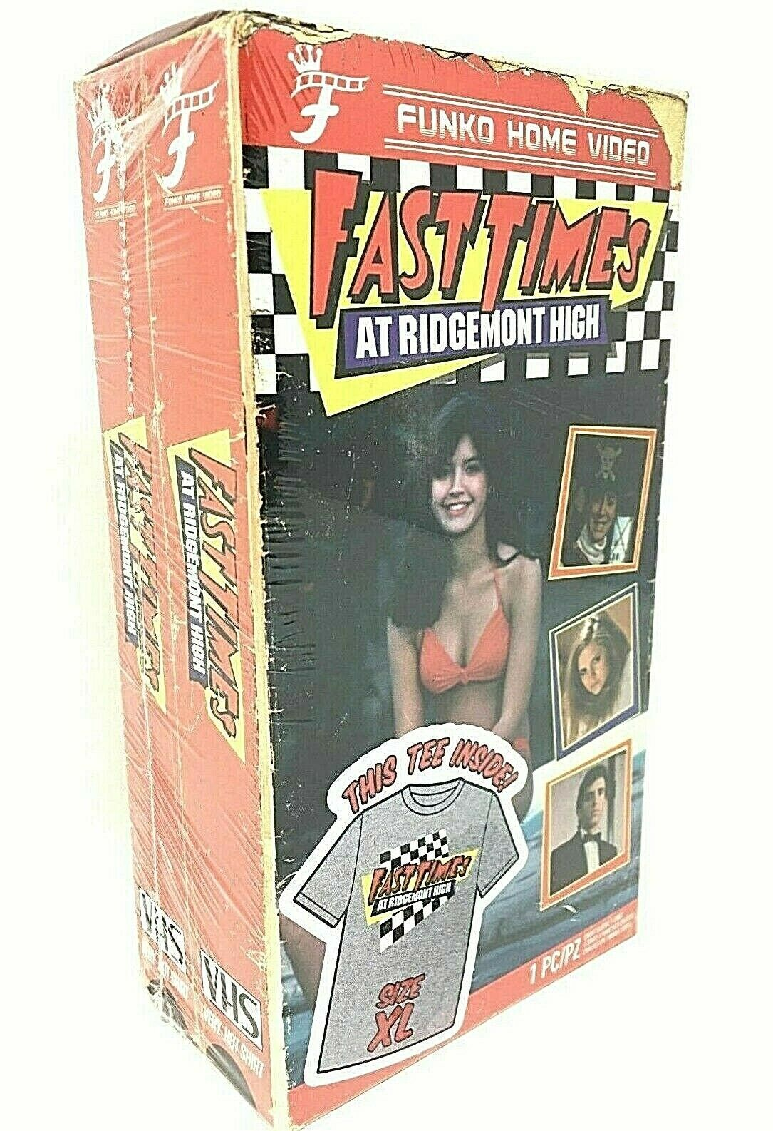 Men's Fast Times At RH Funko Home Video VHS Boxed Short Sleeve Tee Exclusive NIB