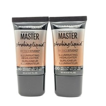 Maybelline Master Strobing Liquid Illuminating Highlighter #200 Medium, Lot of 2 - $8.96