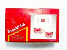 VINTAGE 1993 CAMPBELL KIDS WESTWOOD 4-Piece Mug & Tray Set New-In-Box - $37.39