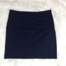 Banana Republic Navy Blue Exposed Zipper Stretch Pencil Skirt Size 8 - $244,61 MXN
