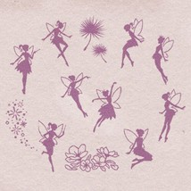 Fairy Stamps, Fairy Rubber Stamps, Stamps, Rubber Stamps, wooden rubber ... - $3.50