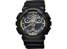 Casio G-Shock Men's Ana-Digital Black/Yellow Resin Quartz Watch - GA100B... - $126.17 CAD