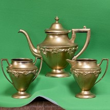 Vintage Norman Old English Reproduction Silverplate Set (Painted Gold??) - $5.95