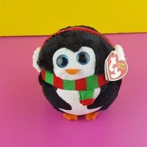 "Ty Beanie Ballz Icicles Plush Penguin Stuffed Animal Toy 5"" Not Common 2012 - $27.72"