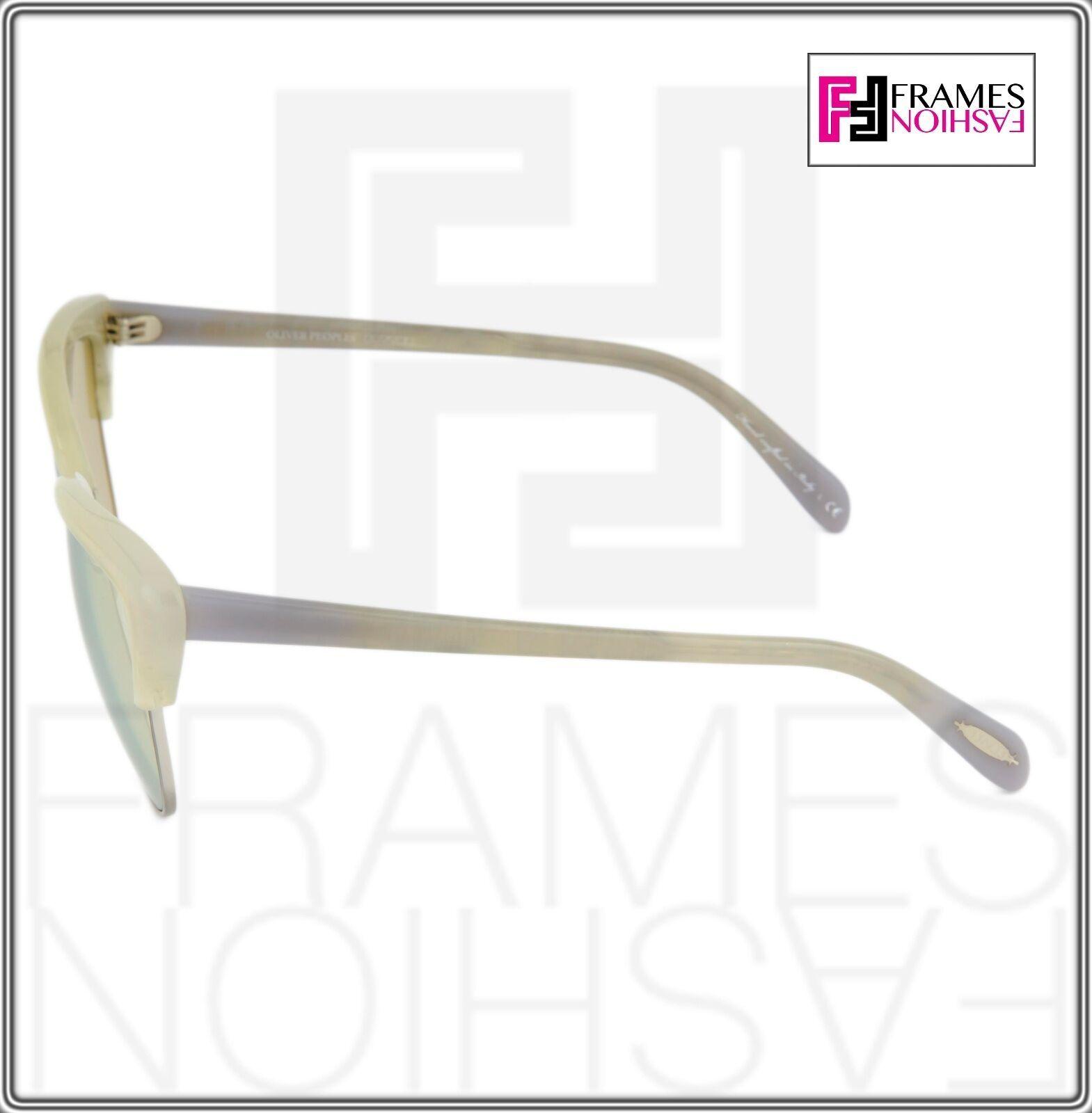 OLIVER PEOPLES ALISHA OV5244S White Pearl Flash Mirrored Sunglasses 5244 Women image 4
