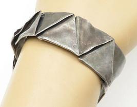 FITCH 925 Silver - Vintage Dark Tone Triangle Patterned Cuff Bracelet - ... - $172.72
