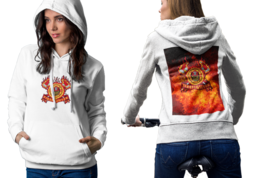 FireFighter Department Womens White Classic Hoodie - $30.99+
