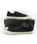 Converse by John Varvatos Vintage Slip On Sneaker Perforated Suede Black... - $60.00