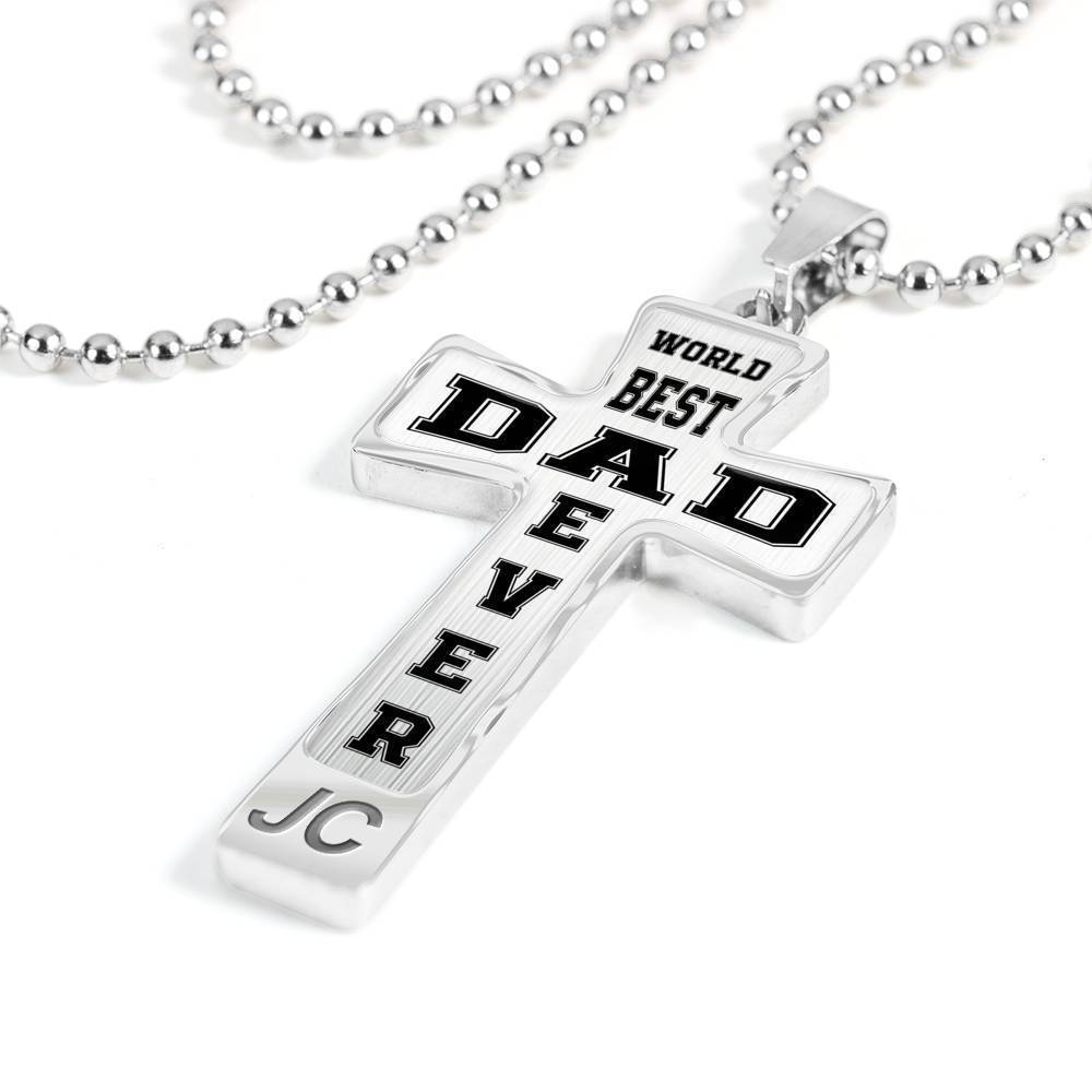 Dad Gift Ideas - Luxury Cross Necklace for Daddy Papa Father of The Bride Gifts