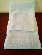 FIELDCREST 2Pc  Towel Set 100%Cotton 1 HAND Towel & 1 Washcloth Newark Blue - image 2