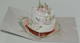 Lovepop LP2118 Wedding Cake Pop Up Card White Envelope Cellophane Wrapped image 3