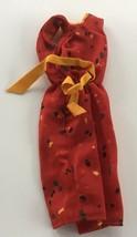 1978 Mattel Barbie Dress #1903 Red Print Genuine Fashion - $9.41