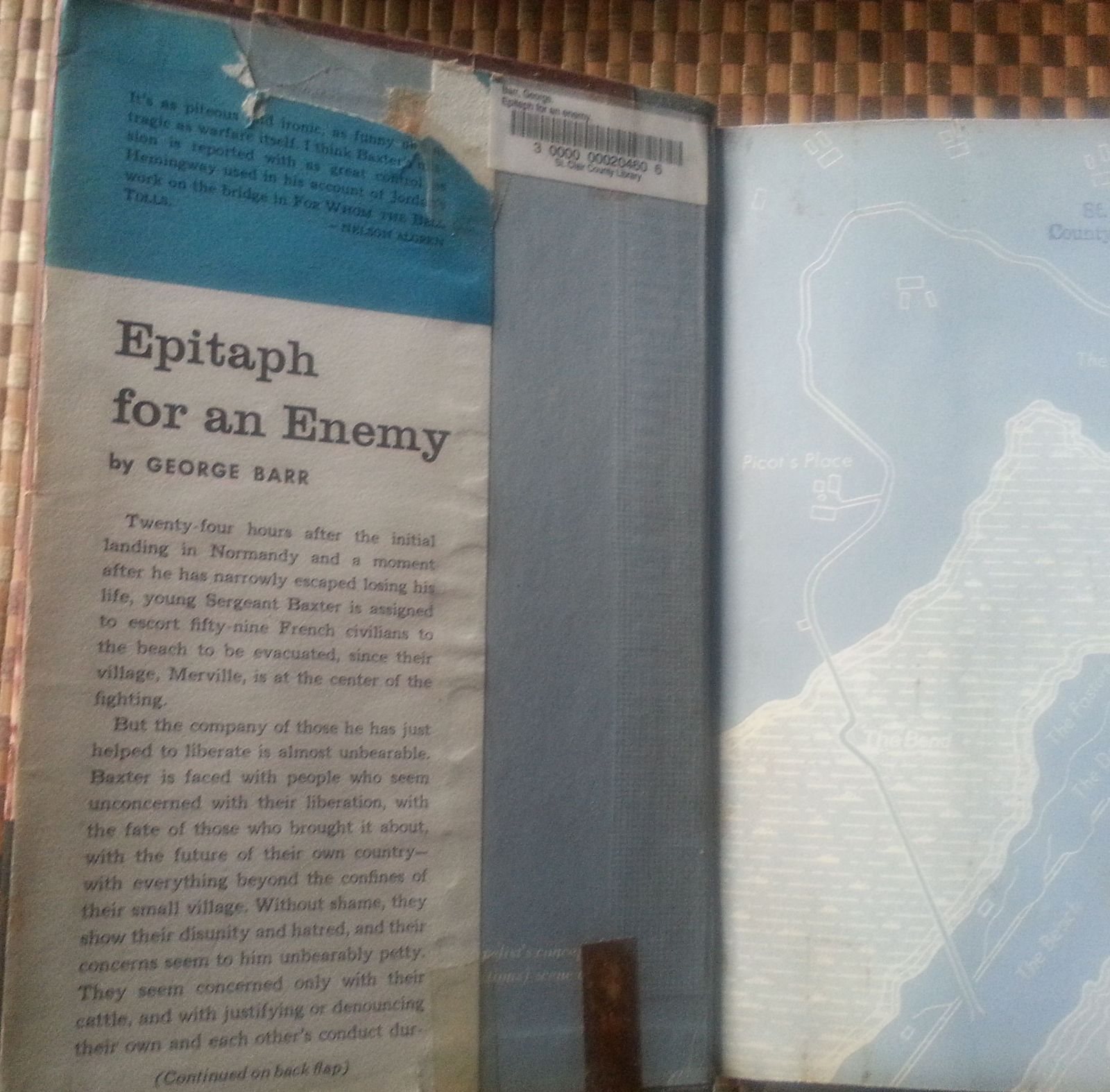 Epitaph for an Enemy by George Barr 1959 HBDJ Normandy