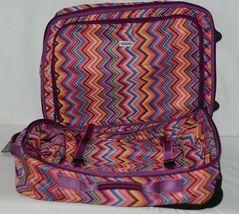 Hadaki Brand HDK879 Multi Color Chevron Plane Hopping Roller Suitcase image 5