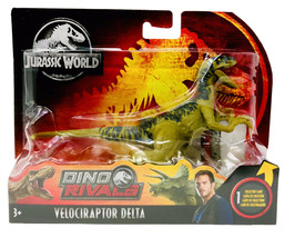 JURASSIC WORLD Dino Rivals VELOCIRAPTOR DELTA Action Figure Attack Pack NEW - $24.95