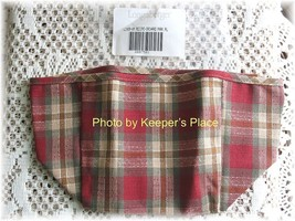 Longaberger ORCHARD PARK PLAID Small Recipe Liner Red Retired New - $12.00