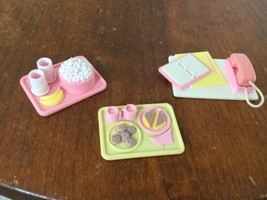 Vintage Fisher Price Food Trays Desk Top Phone - $11.88