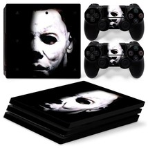 Sony PS4 PRO Michael Myers Console & 2 Controllers Decal Vinyl Skin Art Wrap - $15.81