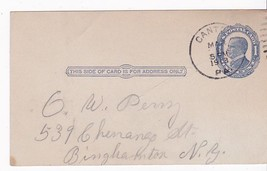 CANTON, PA MARCH 5, 1913 ON 1C McKINLEY POSTAL CARD - $1.78
