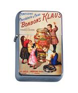 Vintage Poster D222 Flip Top Oil Lighter Wind Resistant Flame Bonbons Klaus - $12.82