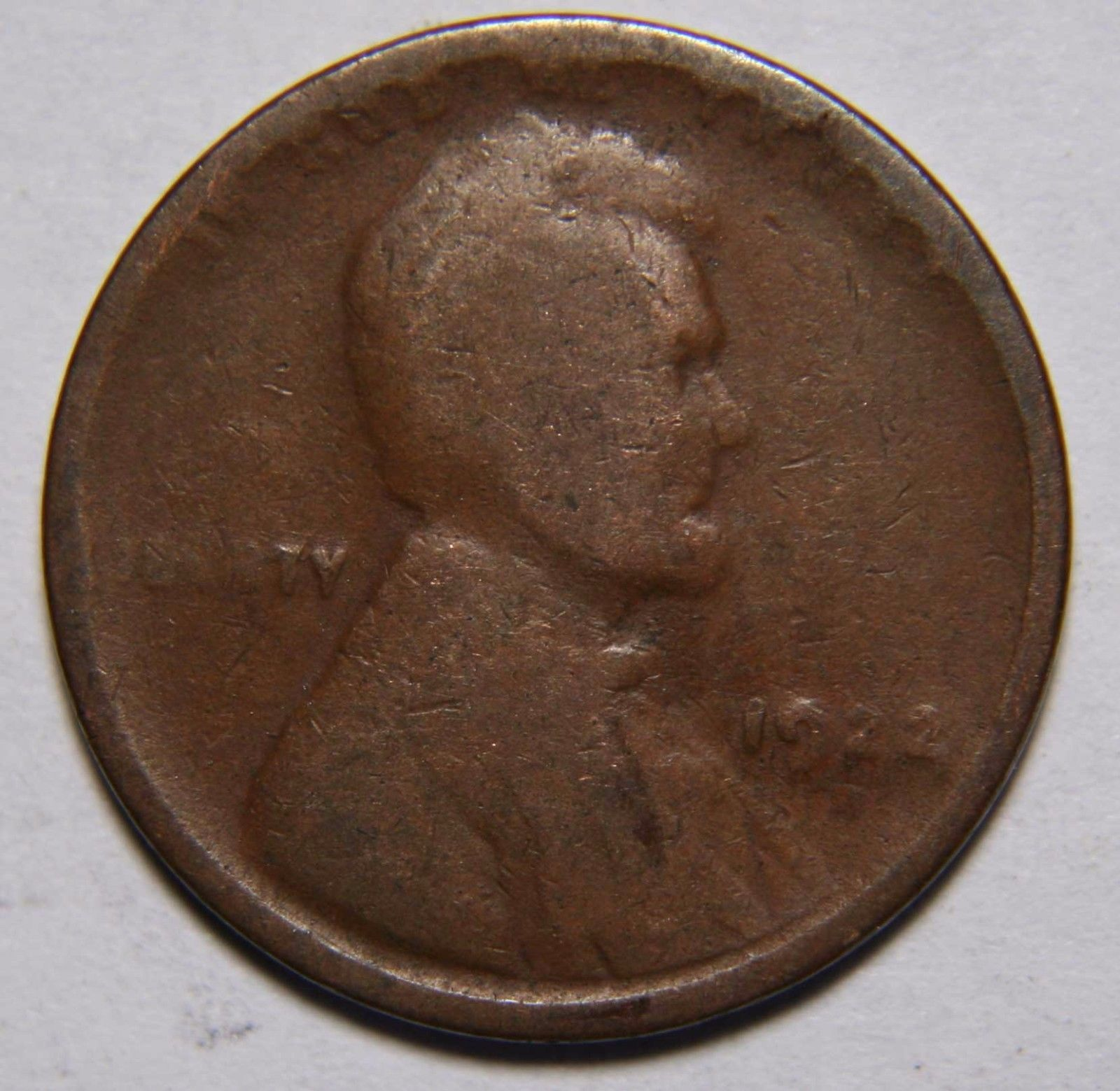 1922 WEAK D LINCOLN PENNY CENT COIN LOT# EA 178