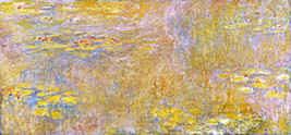 "Water Lilies ""Yellow Nirwana"" Painting by Claude Monet Art Reproduction - $32.99+"