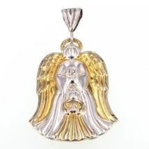 Vintage Gorham Two-Tone Sterling Diamond Accent Guardian Angel Pendant - $24.95