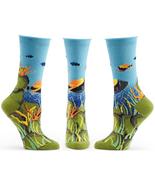Under the Sea Ozone Trouser Crew Socks Navy New Women's Size 9-11 Fish F... - $13.95
