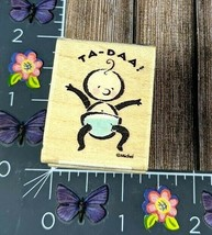 All Night Media Ta Daa Baby Rubber Stamp Birth Announcement Shower 897D #I102 - $3.47