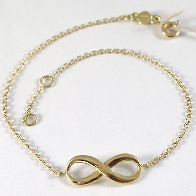 BRACELET YELLOW GOLD 750 18K WITH INFINITY SYMBOL, ROLO', 19 CM LENGTH
